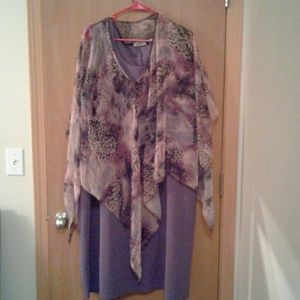 dress w_sheer poncho